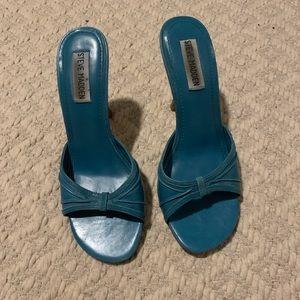 Blue Steve Madden 3 inch heels